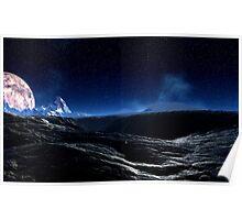 Moonlit Hills Poster