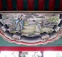 Painted detail, Summer Palace, Beijing by DaveLambert