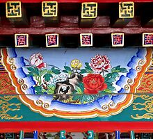 Painted detail, Summer Palace, Beijing by DaveLambert