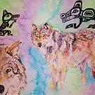 Tribal Wolves by Jennifer Ingram
