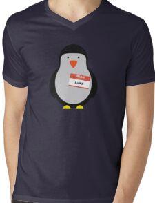 Luke Hemmings 5sos Penguin Mens V-Neck T-Shirt