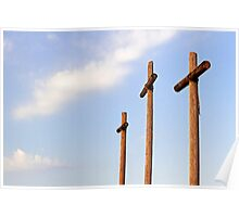 Three Rugged Crosses Poster