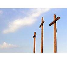 Three Rugged Crosses Photographic Print