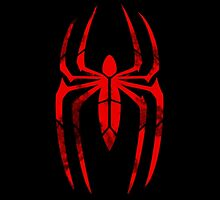 Spider-Man Segmented Logo (Red on Black) by JoshBeck