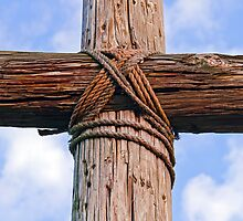 Cross Beams Close Up by Kenneth Keifer