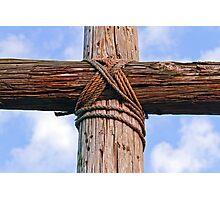 Cross Beams Close Up Photographic Print