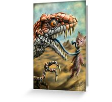 Dinosaur Vs Mammal Greeting Card