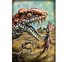 Dinosaur Vs Mammal Photographic Print