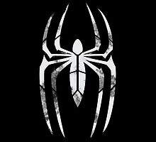 Black Suit Spider-Man Segmented Logo (Black Background) by JoshBeck