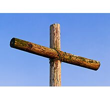 Rugged Wooden Cross Photographic Print