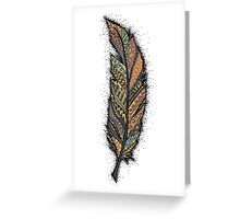 Autumn Feather  Greeting Card