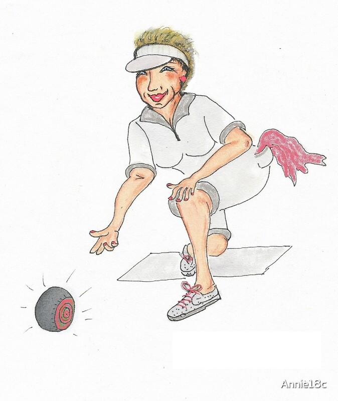 Quot Lawn Bowls Lady Quot Greeting Cards By Annie18c Redbubble