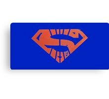 Superman Segmented Logo (Blue Background) Canvas Print