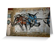 Wild Red And Blue Graffiti Greeting Card