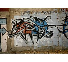 Wild Red And Blue Graffiti Photographic Print