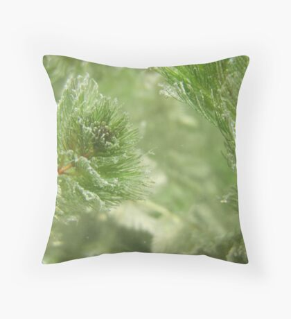 Christmas Weed  Throw Pillow