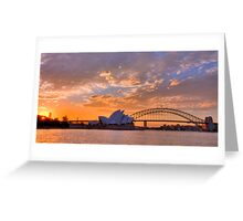 Sunset Sydney Harbour - Australia Greeting Card