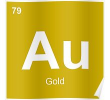 #79 Au (Gold) Poster