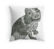 Cocker Spaniel Pencil Sketch Throw Pillow