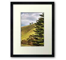 The Three Lone Trees Framed Print