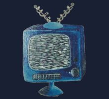Static on the Blue TV by frothybetty