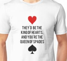 King of Hearts and Queen of Spades Unisex T-Shirt