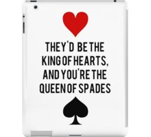 King of Hearts and Queen of Spades iPad Case/Skin
