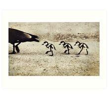 Three Little Ducks Art Print