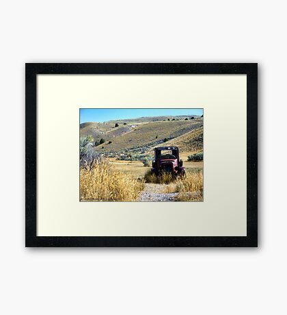 Broken Down in Bannack Framed Print