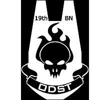 Halo Art - 19th O.D.S.T. Battalion Emblem (White Logo) Photographic Print