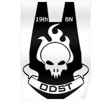 We Are ODST (Black Logo) Poster