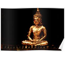 Gold Leafed Buddha Poster