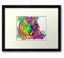 PSYCHEDELIC TIGER Framed Print