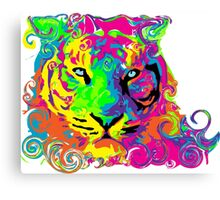 PSYCHEDELIC TIGER Canvas Print