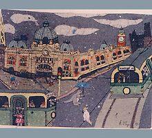 flinders street station by rolynn57