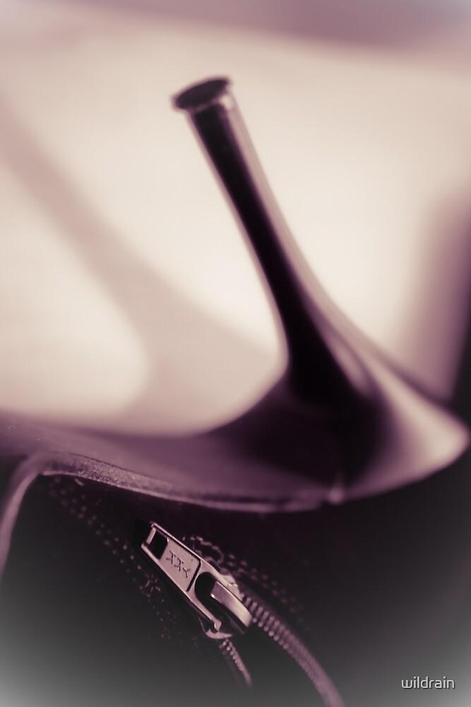 Elegant high heels shoes closeup by wildrain