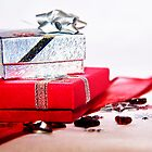 Red and Silver Gifts by Denise Abé