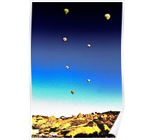 Balloon Rise Sunrise Poster