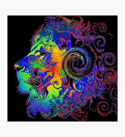 PSYCHEDELIC LION Photographic Print
