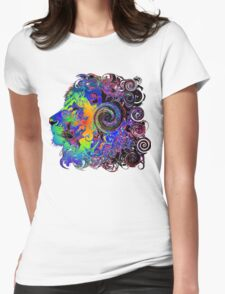 PSYCHEDELIC LION Womens Fitted T-Shirt