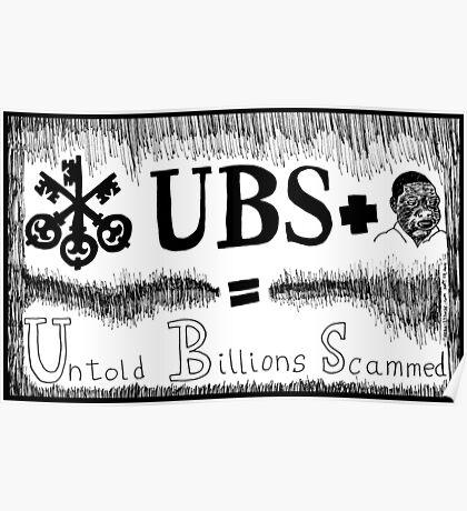 UBS Untold Billions Scammed Poster