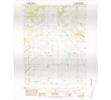 USGS Topo Map Oregon GI Ranch 279978 1983 24000 Poster