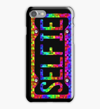 SELFIE PHONE COVER - rainbow cubes iPhone Case/Skin
