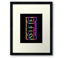 SELFIE PHONE COVER - rainbow cubes Framed Print