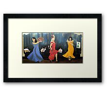 Flamenco scene Framed Print