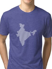 India abstract geometric pattern map Tri-blend T-Shirt
