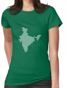 India abstract geometric pattern map Womens Fitted T-Shirt