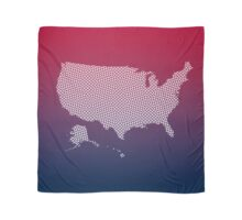 United States of America abstract geometric pattern map Scarf