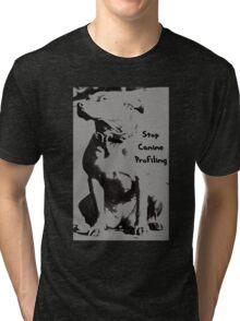 Stop Canine Profiling Tri-blend T-Shirt