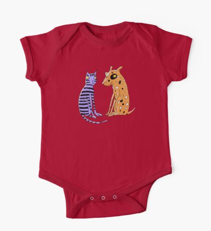 Opposites Attract Cat and Dog Kids Clothes